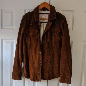 Vintage Leather Jacket overshir Zara Denim Couture
